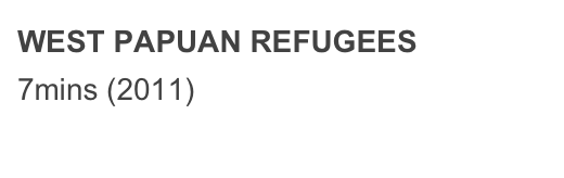 WEST PAPUAN REFUGEES